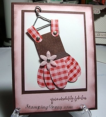 cute card made with punches
