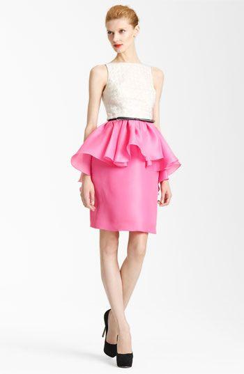 Jason Wu Belted Peplum Dress