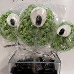 Creepy Rice Krispie Treats    Halloween Ideas Linky Party . . .