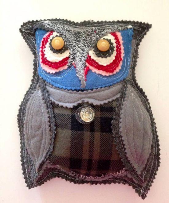 Stuffed animal  Owl  Novelty stuffed owl toy by pinksewingroom, $19.00  Nursery wall decor
