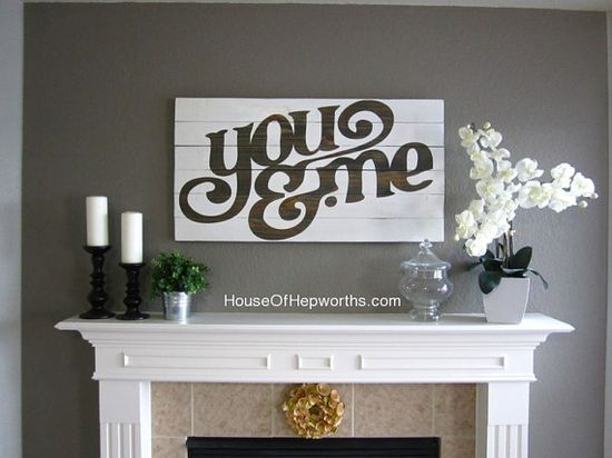 You & Me sign via @etsy and @houseofheps  www.etsy.com/...
