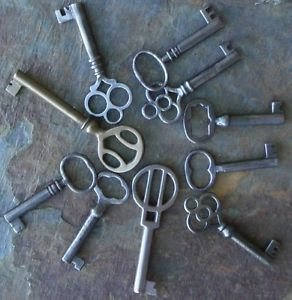 10  Antique  Furniture Keys Cabinet Keys Antique Barrle   Barrel Keys