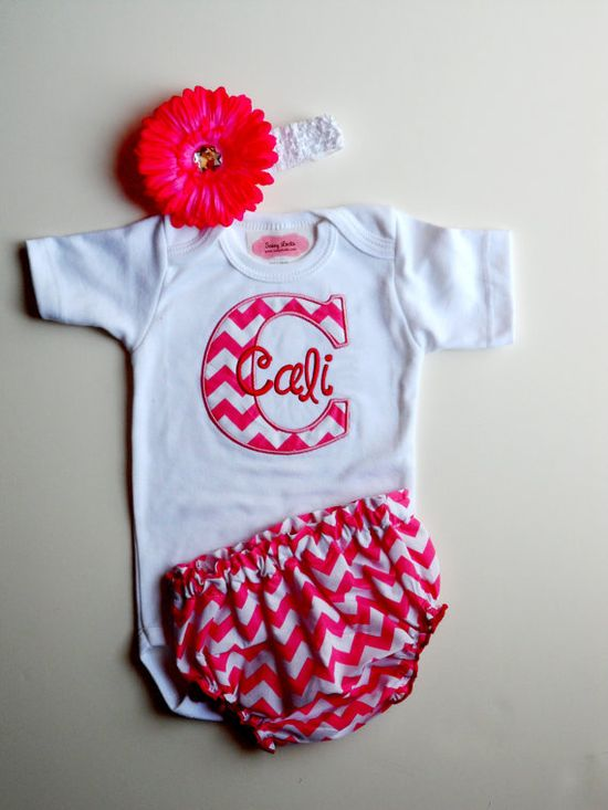 Personalized Baby Girl Clothes Newborn Girl Take Home by LilMamas, $35.90