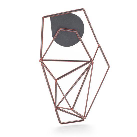 Elizabeth Bone - Geometric_Brooch - silk & silver