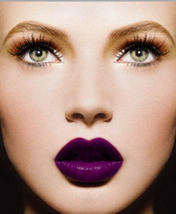 PHILIPPE SALOMON #purple #lips #makeup #beauty