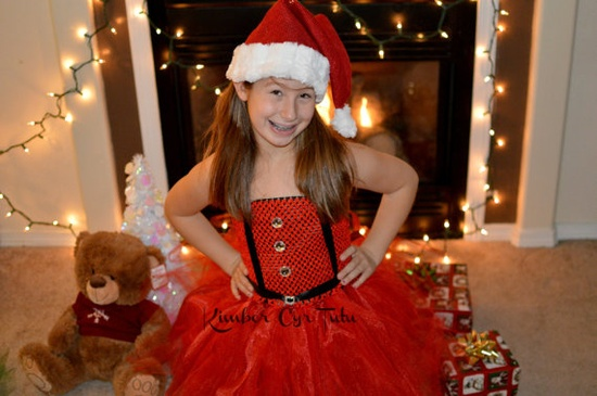Santa Tutu Dress12 months up to preteen available by kimbercyr, $30.00