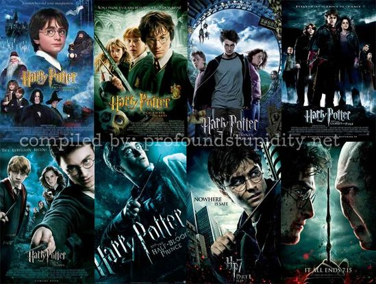 ALL the harry potter movies!