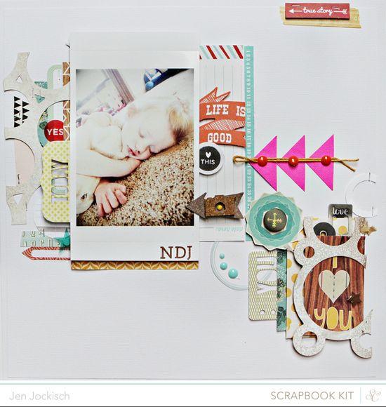 #papercraft #scrapbooking #layout    Spencer Kit: Jen Jockish