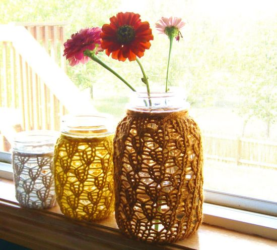 Knit Mason Jar Centerpieces: Cozy Fall Decor $36.00