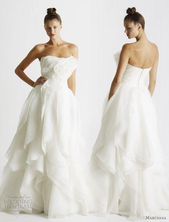 Romantic wedding dress by Marchesa