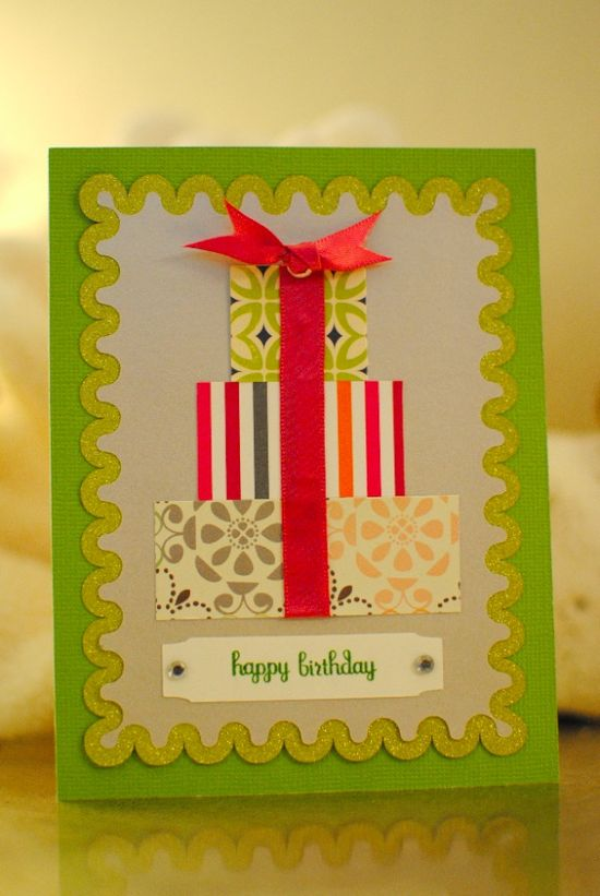 Close to my heart silhouette handmade birthday card