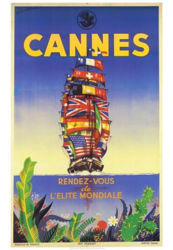 Vintage Travel Poster - France - Cannes