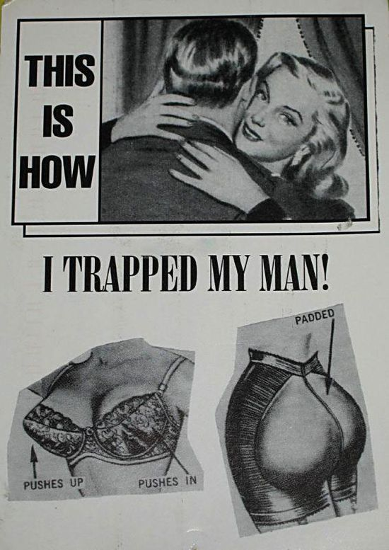 How I trapped my man.