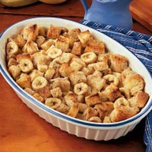 Banana bread pudding - yum!