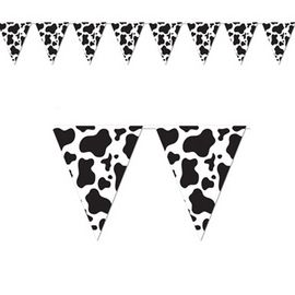 Cowboy Party Cow Print Banner