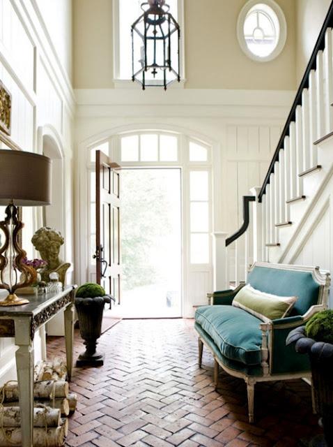 brick floor + light + seating + accessories