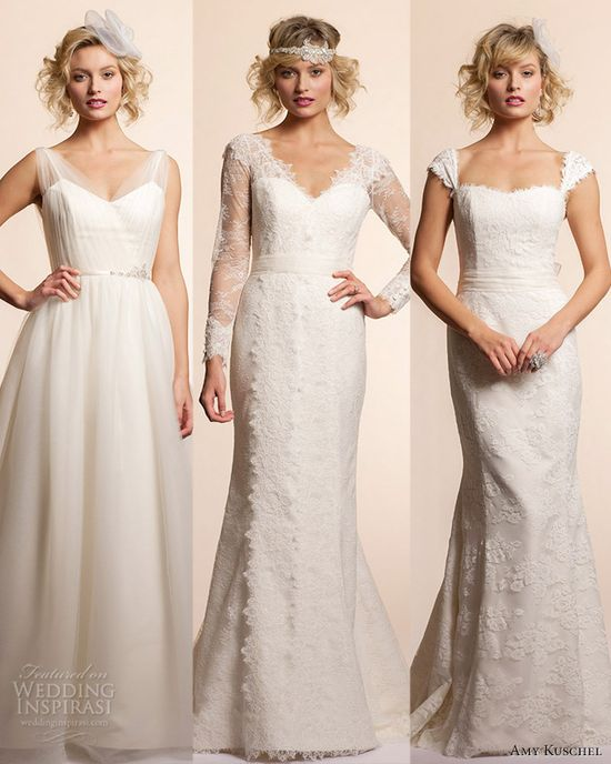 We present you our top 3 picks from Amy Kuschel 2013 Wedding Dress Collection. @ weddinginspirasi....