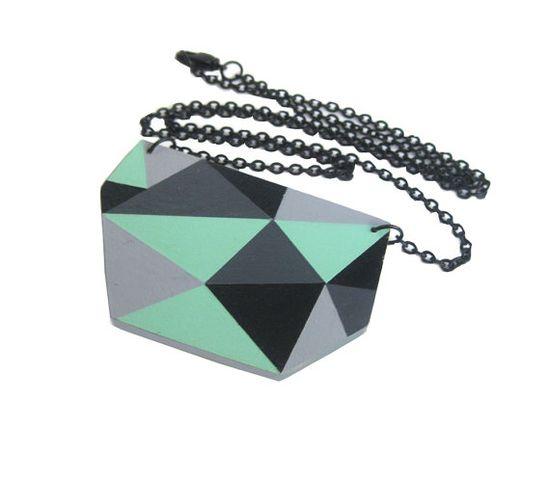 Geometric Triangle Necklace #BrooklynBride