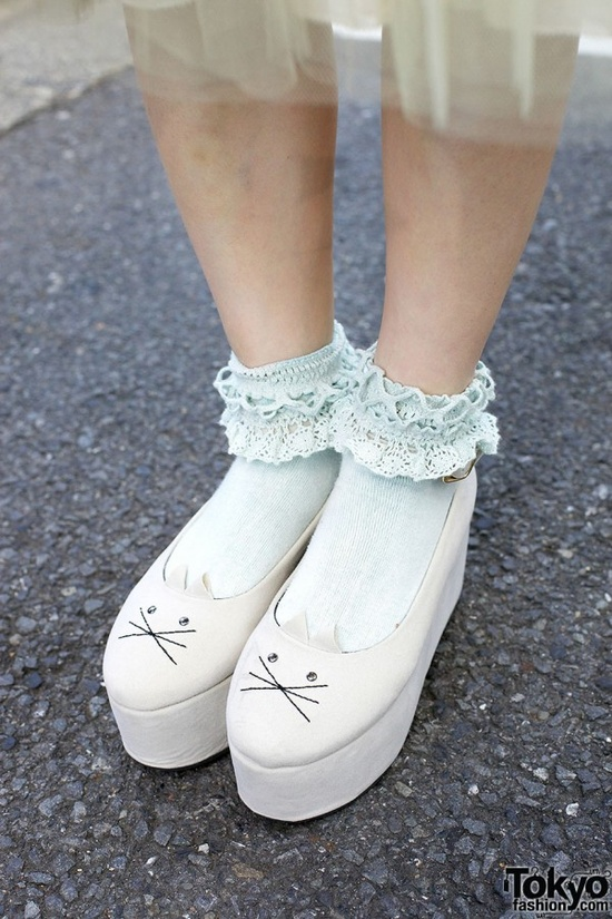 Cat Face Platform Shoes - WANT!!