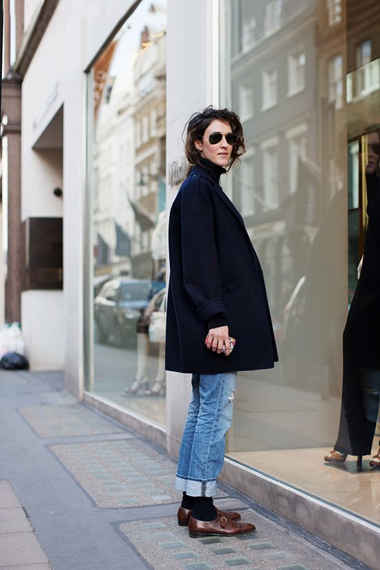 Such a solid day in, day out look. Shot by the Sartorialist.