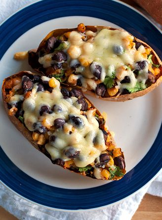 Healthy Mexican Sweet Potato Skins! Can't wait to make these for my family!