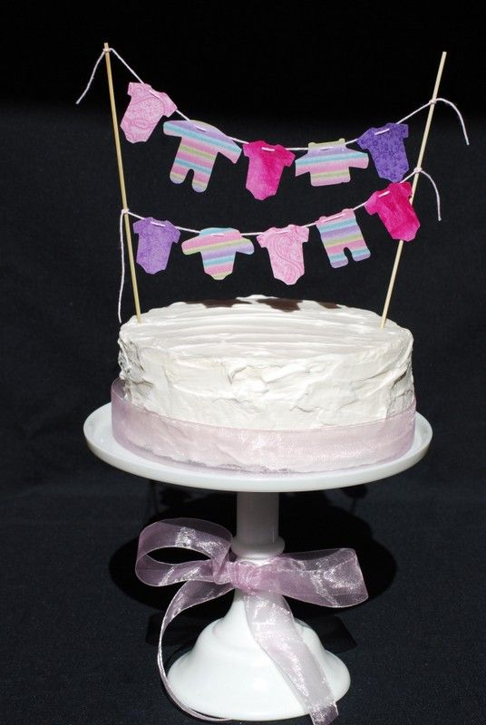 Girl Baby Shower – Cake Banner. $16.00, via Etsy.