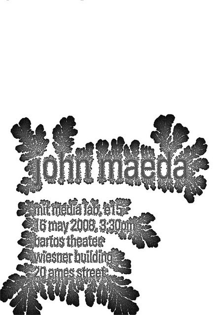 Golan Levin / Poster for John Maeda by AmberFJ, via Flickr