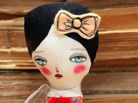 VIRGINIA   Original Handmade Fabric Doll by Danita by DanitaArt, $45.00