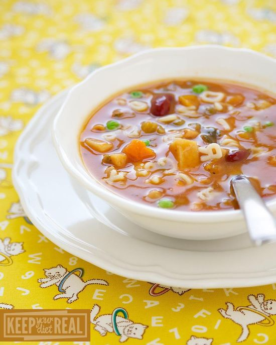 Soups Recipes : Alphabet Minestrone Soup  : Soups Recipes