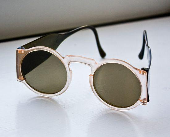 Vintage Sunglasses Round Celluloid Frames 1930s by WhiteWashStudio