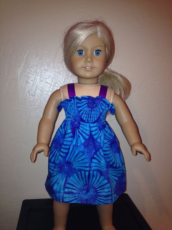 American Girl Doll Clothes  Summer Dress by Dalesdolldesigns,