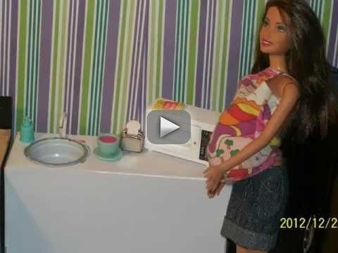 tour of my handmade  barbie house - this is the set of the new