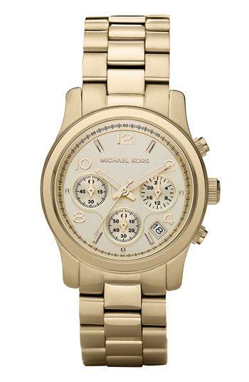 Michael Kors 'Runway' Chronograph Watch. Love.