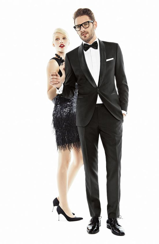 Black Tie Affair: BOSS Black 'Sky/Gala' Trim Fit Wool Tuxedo #Nordstrom #Men #Holiday