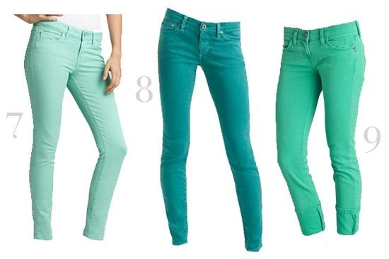 mint teal/ turquoise and aqua skinny jeans love♥