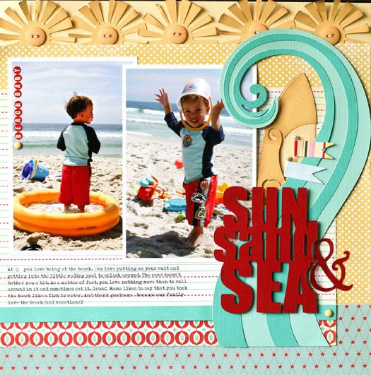 Beach using Cricut Creative Memories Traveler Cartridge  blog:http:/...  $55  #cricut