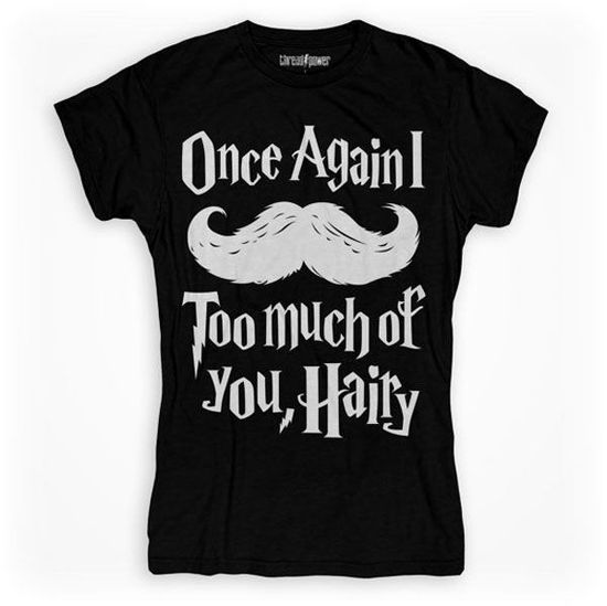 This Graphic Harry Potter T-Shirt Incorporates a Mustache into a Famous Quote trendhunter.com