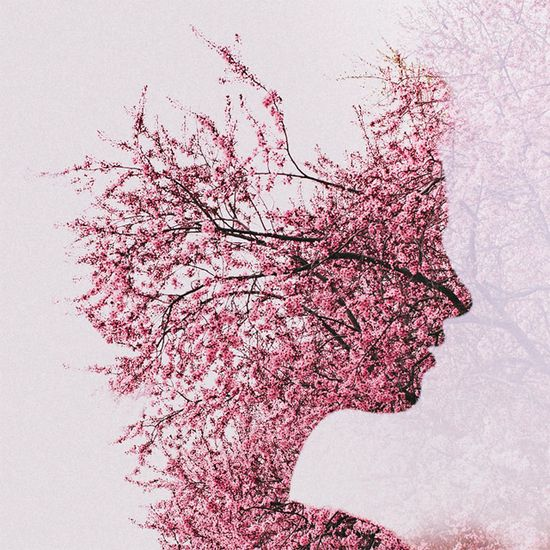 Multiple exposure portraits by Sara K. Byrne. Some are more succesful than others, but all are interesting. Wouldn't you like to be a flowering cherry?