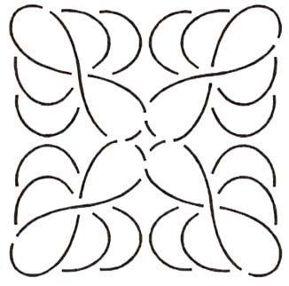 Quilt Stencil Feathe