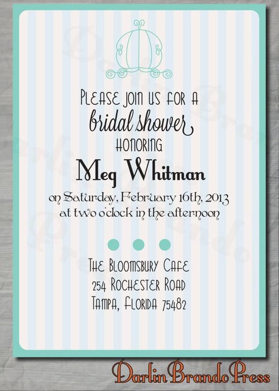 Fairytale Bridal Shower Invitation