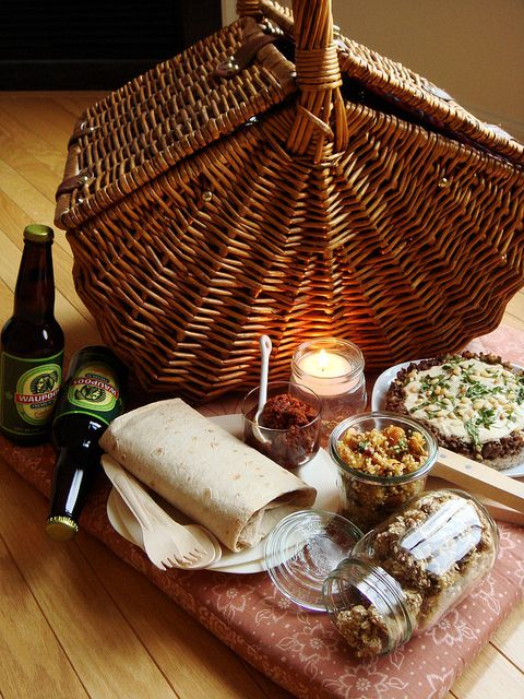 picnic for two indoors