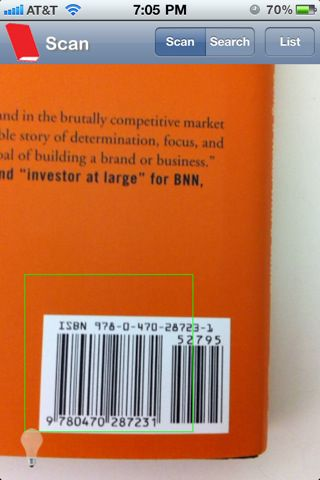 iPhone app to scan the barcode of a book and get the citation.