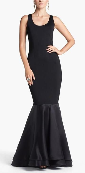 Stunning black mermaid gown.