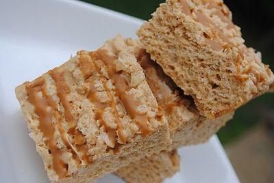 Biscoff Rice Krispie Treats #dessert #biscoff @Liting Mitchell Sweets