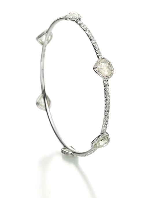 Delicate diamond bangle. so pretty!