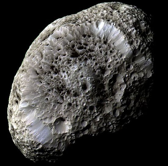 Saturn's Hyperion, a moon with odd craters