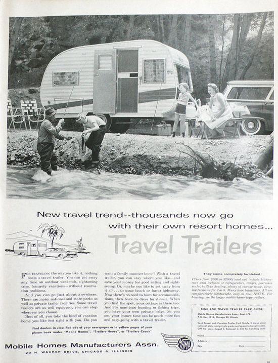 Vintage travel trailer ad