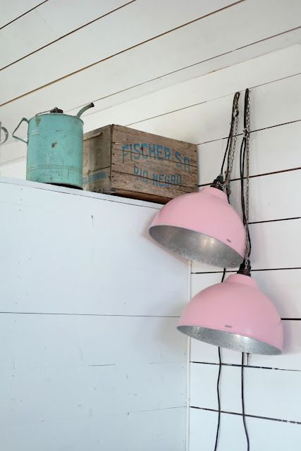 Gas can, box and pink lights - cool funky junk