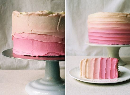 almond ombre cake