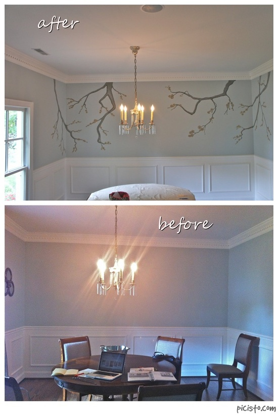 decorative painting before and after by Bella Tucker Decorative Finishes
